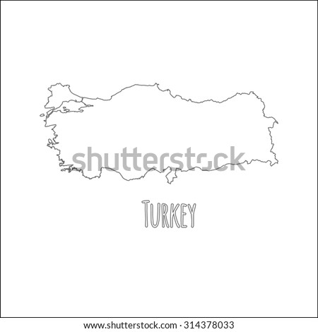 Vector Images, Illustrations and Cliparts: Outline vector map of ...