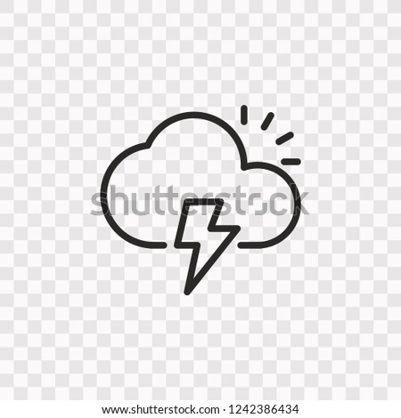 Outline Weather icon. Vector illustration style is flat iconic symbol, black color, transparent background. Designed for web and software interfaces. Editable stroke. Eps10