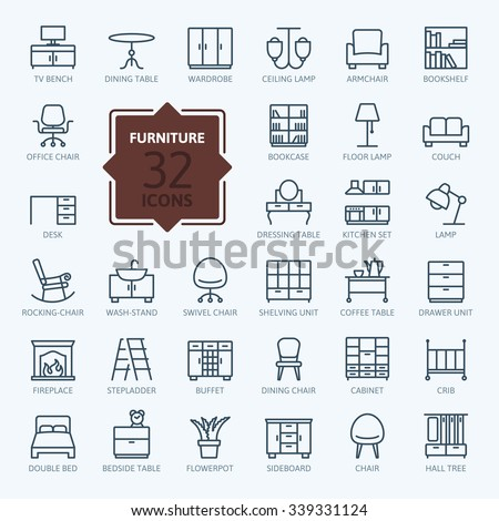 outline web icon collection