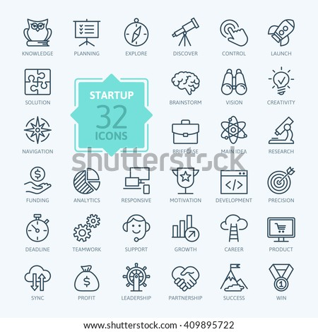 Outline web icon set - start-up project #409895722