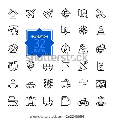 outline web icons set