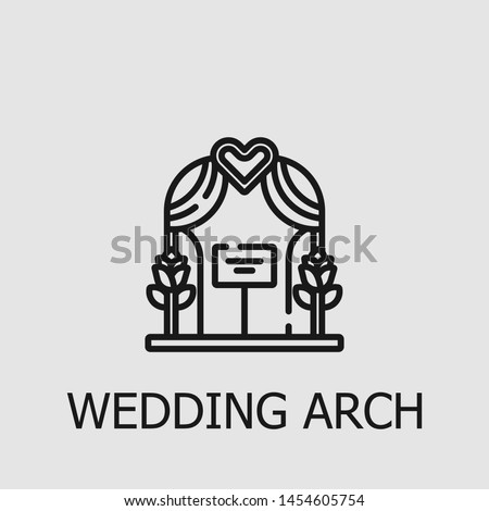 outline wedding arch vector