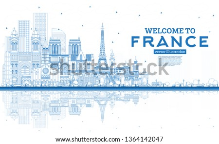 outline welcome to france