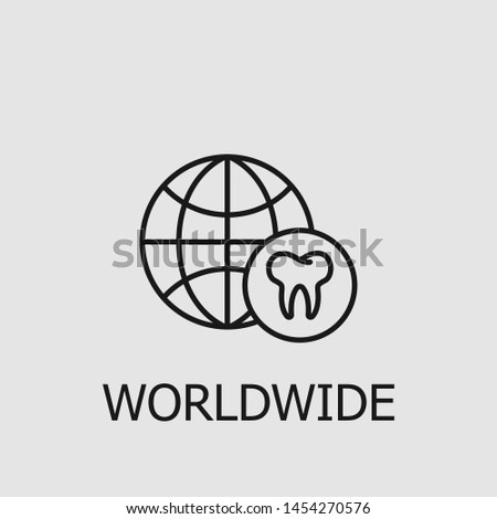 Outline worldwide vector icon. Worldwide illustration for web, mobile apps, design. Worldwide vector symbol.