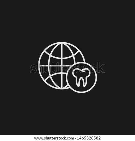 Outline worldwide vector icon. Worldwide illustration for web, mobile apps, design. Worldwide vector symbol.