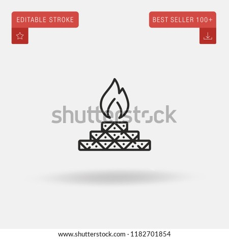 outline yagna icon isolated on