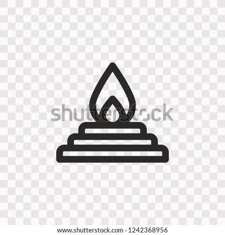 outline yagna icon vector
