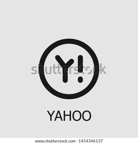 Outline yahoo vector icon. Yahoo illustration for web, mobile apps, design. Yahoo vector symbol.
