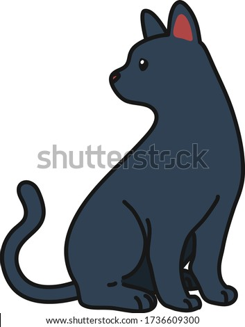 outlined russian blue cat
