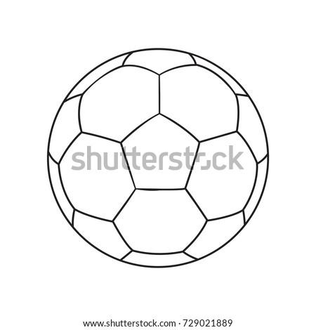 Outlined vector football ball. Football soccer