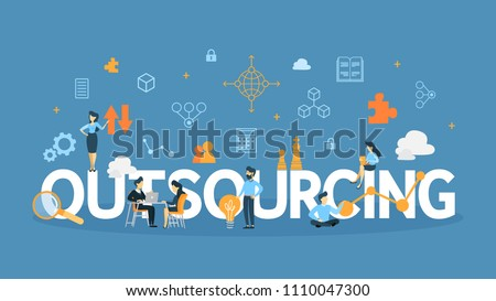 Outsourcing concept illustration. Idea of teamwork and investment.