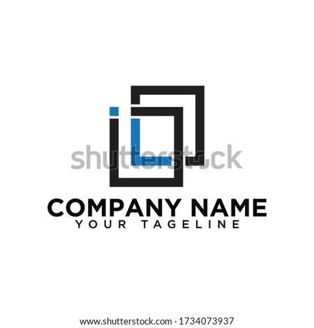 Outstanding IL initial vector monogram letter logo, IL logo , IL letter logo template white background. Foto d'archivio ©