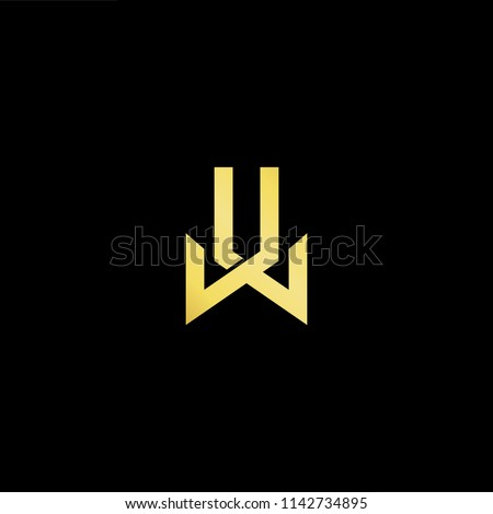 Outstanding professional elegant trendy awesome artistic black and gold color LL JL JL JJ initial based Alphabet icon logo.