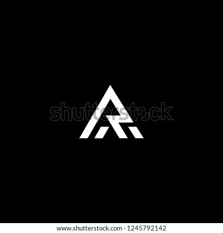 Outstanding professional elegant trendy awesome artistic black and white color AR RA initial based Alphabet icon logo. Stock fotó ©