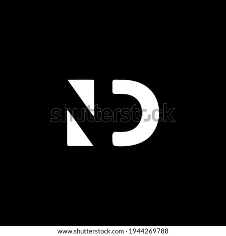 Outstanding professional elegant trendy awesome artistic black and white color ID DI initial based Alphabet icon logo. Foto d'archivio ©