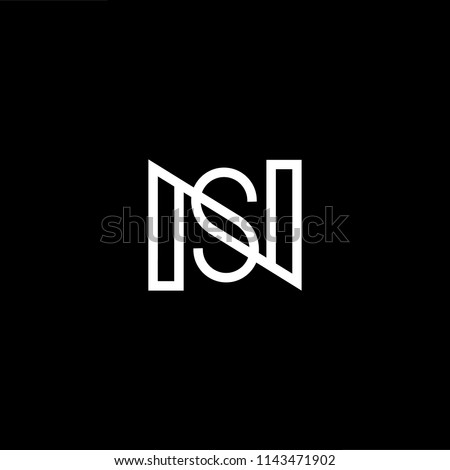 Outstanding professional elegant trendy awesome artistic black and white color NS SN initial based Alphabet icon logo. Stock fotó ©