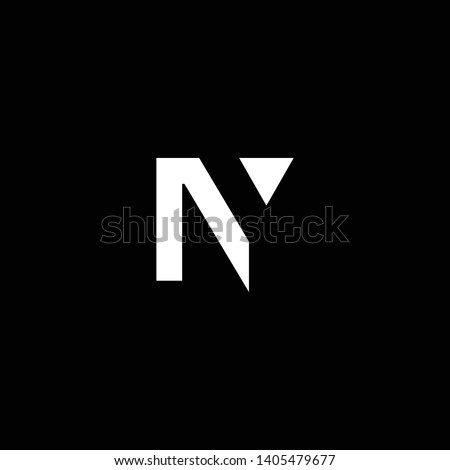 Outstanding professional elegant trendy awesome artistic black and white color NY YN initial based Alphabet icon logo. Stok fotoğraf ©