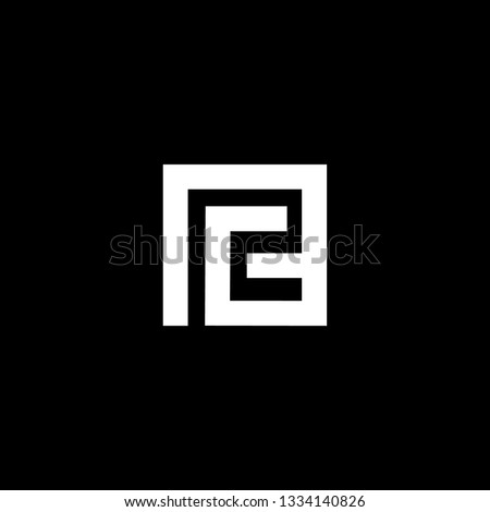 Outstanding professional elegant trendy awesome artistic black and white color PG GP initial based Alphabet icon logo. Stock fotó ©