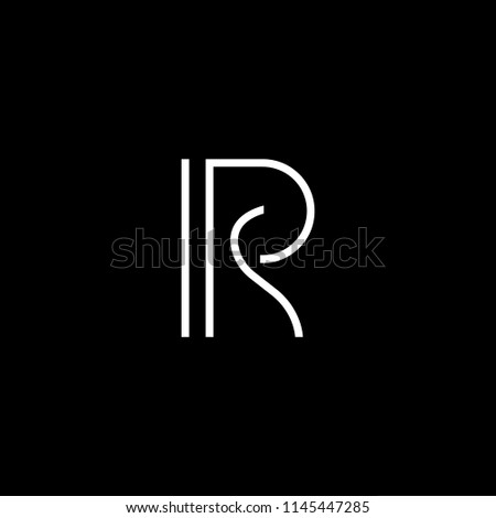 Outstanding professional elegant trendy awesome artistic black and white color RS SR initial based Alphabet icon logo. Stock fotó ©