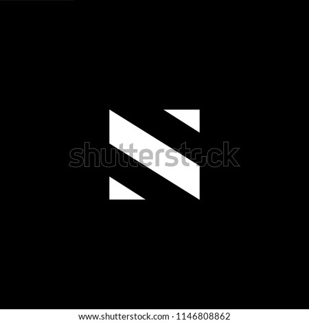 Outstanding professional elegant trendy awesome artistic black and white color SN NS initial based Alphabet icon logo. Stock fotó ©