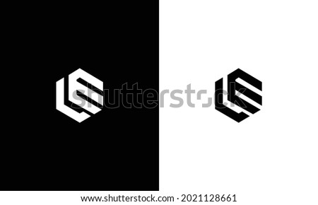 Outstanding professional elegant trendy awesome LE logo design Photo stock ©