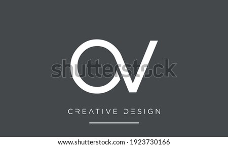 OV or VO Alphabet letters Abstract Logo Stock fotó ©