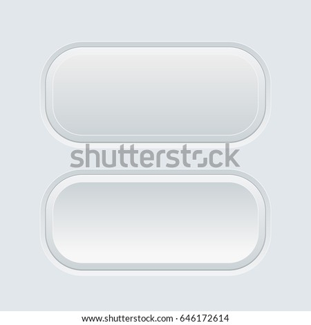 Oval gray web buttons. Vector illustration #646172614