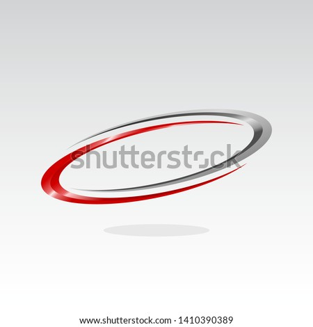 oval logo design inspiration . red oval vector template . 3d oval logo template . elipse vector template . red elipse template