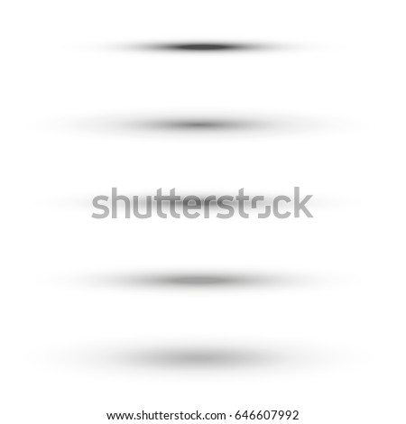 Oval shadow set vector illustration for 3d effect for web and mobile design