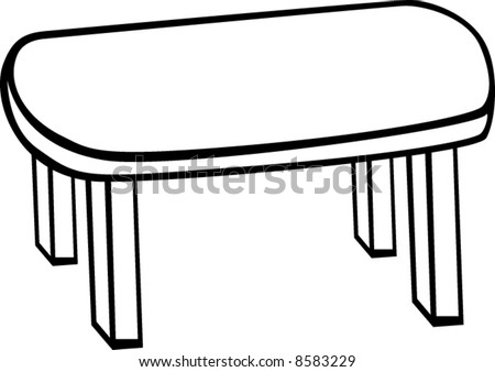 oval table  Table Clipart Black And White