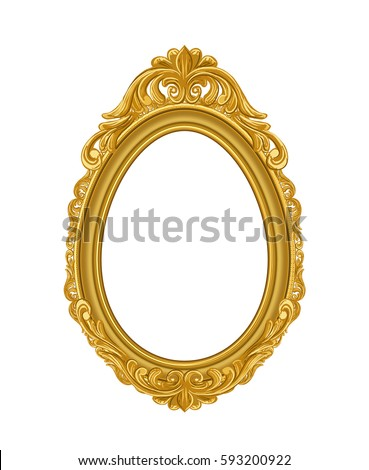 Royalty-free Vintage gold picture frame #554273623 Stock Photo ...