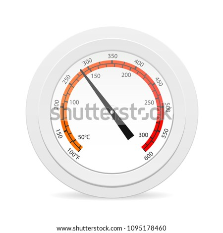 Oven thermometer icon. Cooking clipart isolated on white background