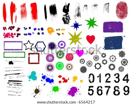 Over 90 Grunge elements - Highly Detailed vector grunge elements Separately grouped and layered for easy use.