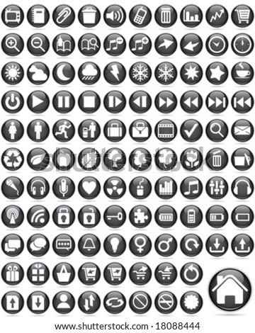 Over one hundred Glossy Icons