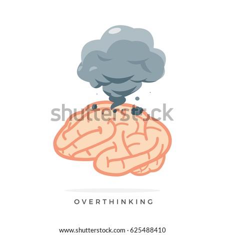 over thinking smoke from brain