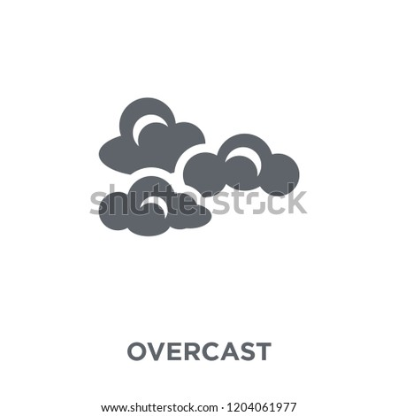 Overcast icon. Overcast design concept from  collection. Simple element vector illustration on white background.