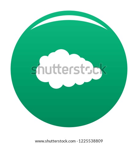 Overcast icon. Simple illustration of overcast vector icon for any design green