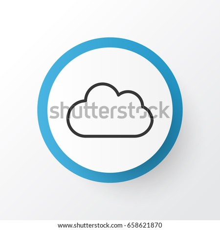Overcast Icon Symbol. Premium Quality Isolated Cloud Element In Trendy Style.