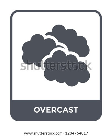 overcast icon vector on white background, overcast trendy filled icons from Meteorology collection, overcast vector illustration