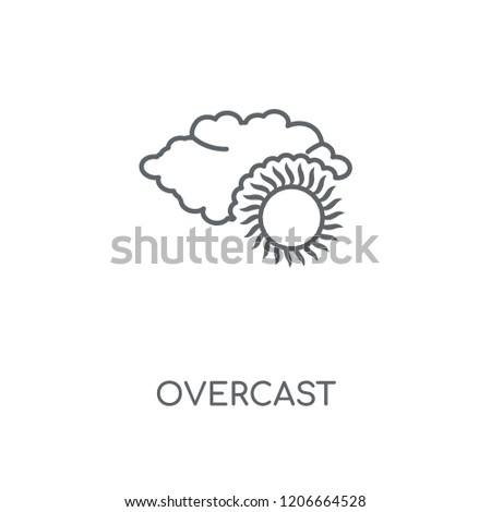 Overcast linear icon. Overcast concept stroke symbol design. Thin graphic elements vector illustration, outline pattern on a white background, eps 10.