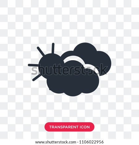 Overcast vector icon isolated on transparent background, Overcast logo concept