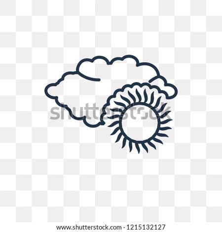 Overcast vector outline icon isolated on transparent background, high quality linear Overcast transparency concept can be used web and mobile