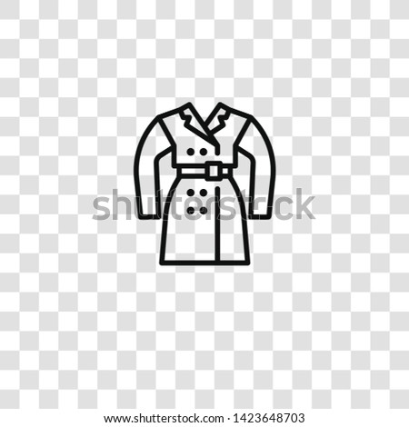 overcoat icon from  collection for mobile concept and web apps icon. Transparent outline, thin line overcoat icon for website design and mobile, app development