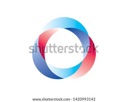 Overlapping circles and ovals in an circular pattern. Abstract shapes together showing unity and diversity concepts.
