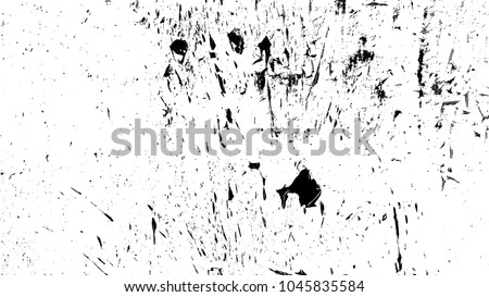 Overlay aged grainy messy template. Distress urban used texture. Grunge rough dirty background. Brushed black paint cover. Renovate wall frame grimy backdrop. Empty aging design element. EPS10 vector.