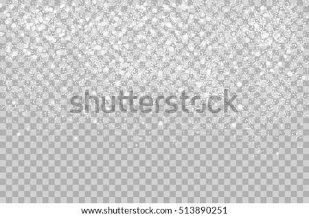 overlay falling shining snow