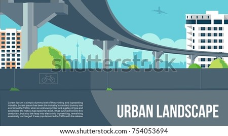 overpass or bridge  in city or