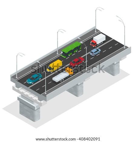 overpass vector illustration
