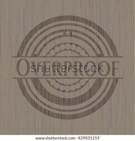 Overproof vintage wood emblem