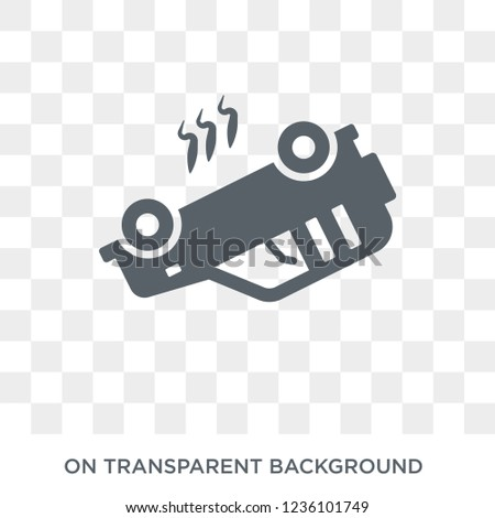 Overturned vehicle icon. Trendy flat vector Overturned vehicle icon on transparent background from Insurance collection.